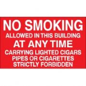 No Smoking safety sign - No Smoking Allowed 007